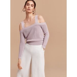 Aritzia Wilfred Antenne Sweater Cold Shoulder